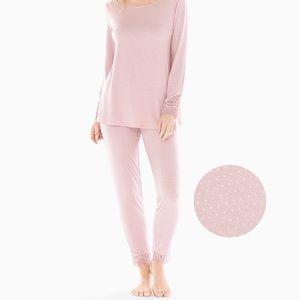 NEW Soma COOL NIGHTS Lace Trim Long Sleeve PJ Set